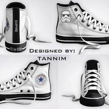 DCCK1IN custom star wars stormtrooper converse chucks by tannim on etsy