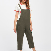 Pocket Side Overall PantsFor Women-romwe