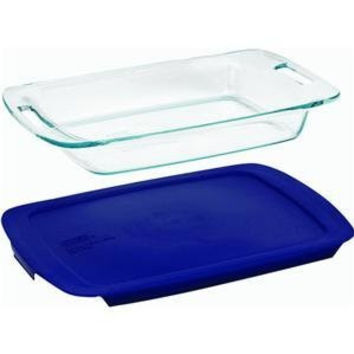 Pyrex Grip Rite 3-Quart Rectangular Baking Dish with Lid