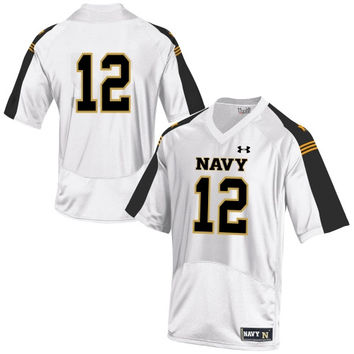 Navy Midshipmen Under Armour Youth No. 12 Replica Football Jersey – White - http://www.shareasale.com/m-pr.cfm?merchantID=7124&userID=1042934&productID=547707217 / Navy Midshipmen