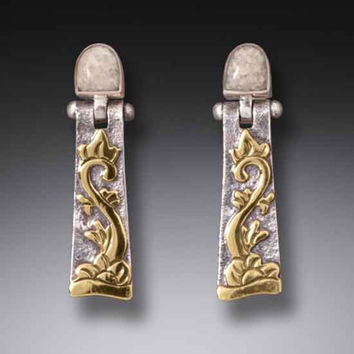 Zealandia Designs Sterling Silver and 14k Gold Ivory Earrings