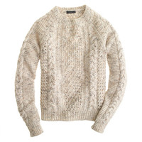 J.Crew Womens Mohair Pointelle Cable Sweater