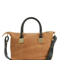 Small leather tote bag - Tan | Bags | Ted Baker ROW