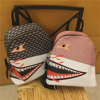 Fashion Casual Trick Print Shark Tote Bag