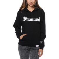 Diamond Supply Girls Diamond 4 Life Black Pullover Hoodie at Zumiez : PDP