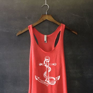 Anchor Racerback Tank Top for Women