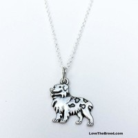 Australian Shepherd Charm Necklace