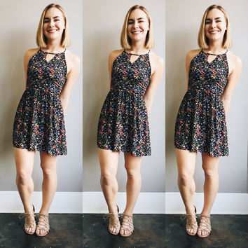 A Sweet Little Floral Dress in Black