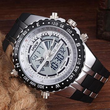 Mens Watches Top Brand Luxury Men Military Watches LED Digital analog Quartz Man Sports Watch Waterproof Relogio Masculino
