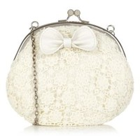 New Look Mobile | Teens Cream Crochet Across Body Purse Bag