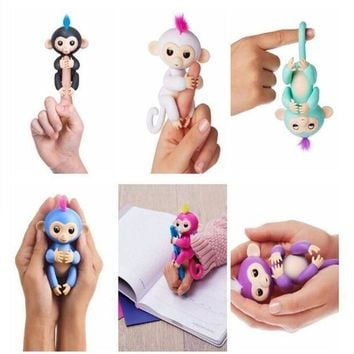 Dear Deer Fingerlings Smart interactive Toy Monkeys. 6 colors available Kids Christmas Gifts [109886930959]