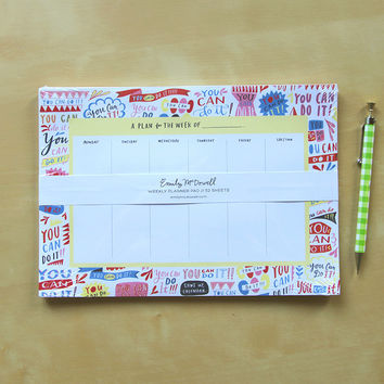 You Can Do It! Weekly Planner Pad