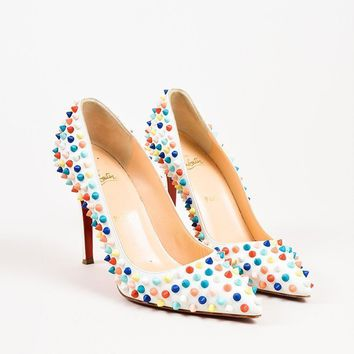 DCCK2 Christian Louboutin Multicolor Spiked Pigalle Pumps