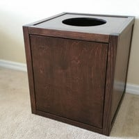 Cat Litter Box Cabinet with Top Opening, Wood not MDF, Made in USA, Choice of Stain  (Many Configurations Available)