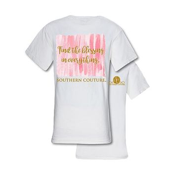 Southern Couture Preppy Find The Blessing Comfort Colors T-Shirt
