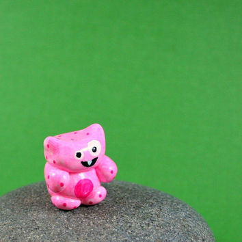 Little Pink Squishy  Hand Sculpted by MadeWithClayAndLove on Etsy