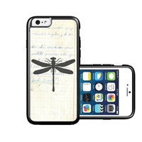 RCGrafix Brand vintage-paper-dragonfly iPhone 6 Case - Fits NEW Apple iPhone 6