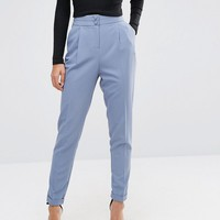 ASOS Tailored High Waisted Trousers with Turn Up Detail