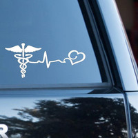 Car decal, Nurse decal, Nurse, Computer decal, Decal