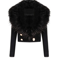 Bosi Black Fur Jacket