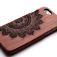 Flower wood iPhone 6 Case Wooden Phone Cover for iPhone 6 iphone 5/5s/5c iPhone 4/4s Samsung Galaxy S3/S4/S5/S6 Galaxy Note2/3/4