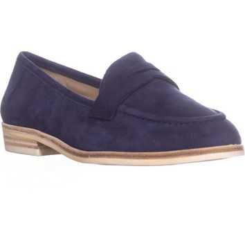 Nine West Antonecia Penny Loafers, Navy, 6 US