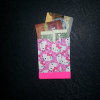 ID Card and Money Wallet Hello Kitty & Hot Pink - Ducttape