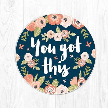 mouse pad coworker gift for coworker Office Supplies Office Decor Employee Gift floral mousepad