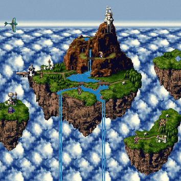 Chrono Trigger Zeal map video game poster 24x18