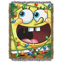 SpongeBob SquarePants Fa La La 46x60 Woven Tapestry Throw FREE US SHIPPING