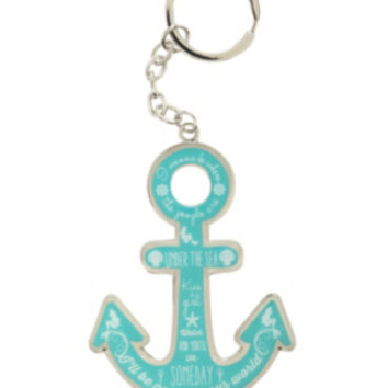 Disney The Little Mermaid Anchor Quotes Metal Key Chain