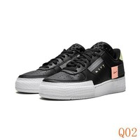 534 Nike AIR FORCE 1 AF1 Type CI0054-001 Women Men Casual Skateborad Shoes