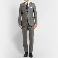 Michael Bastian - Grey Windowpane-Check Wool Suit Jacket | MR PORTER
