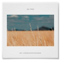 Be Free Savannah Golden Grass Africa Poster