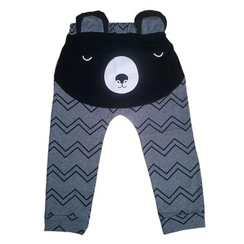 Cotton Bear Pattern Baby Pants Boys Girls Sport Trousers Spring Autumn 2017 Boy Pants Bears Carter's Sweatpants Girl Leggings