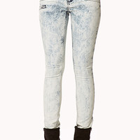 Zippered Acid Wash Skinny Jeans | FOREVER 21 - 2074910981