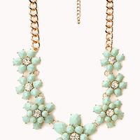 Fancy Floral Bib Necklace