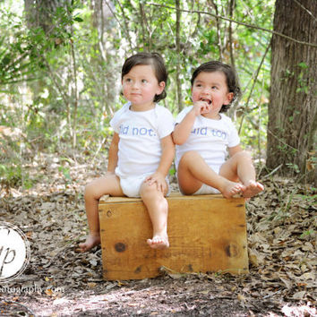did not did too Set Of Twin Onesuit Infant by ShopTheIttyBitty
