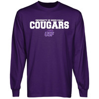 University of Sioux Falls Cougars University Name Long Sleeve T-Shirt - Purple