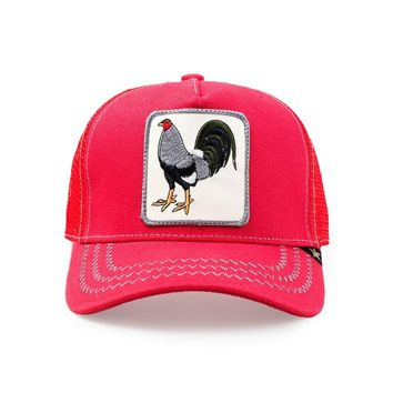 Trucker Hat -  Rooster Red/Grey