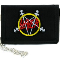 Slayer Reign of Blood Tri-fold Wallet w/ Chain Occult Clothing
