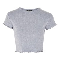 Frill Short Sleeve T-Shirt | Topshop