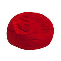 Small Solid Red Kids Bean Bag