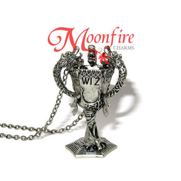 HARRY POTTER Triwizard Tournament Cup Pewter Necklace