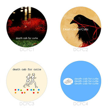 Death Cab For Cutie - Set of 4 - Something About Airplanes We Have The Facts And We're Voting Yes Plans Indie Buttons Pins Badges Pinback