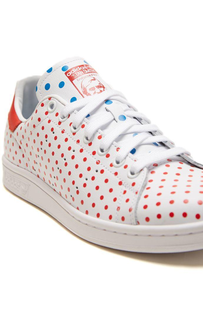 Adidas Pharrell Williams Stan Smith Shoes - Mens Shoes - White Red ec1e2048d