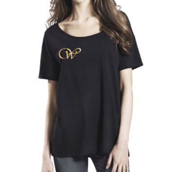 Tencel Blend Oversized T-Shirt- CW (Metallic Gold Vinyl)
