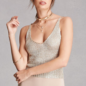 Open-Knit Cami Top