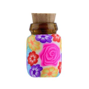 10 pcs Mini Glass Polymer Clay Bottles Containers Vials With Corks new arrival Can put in some powder or Beads & Jewellery