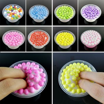 Fluffy Slime Colorful Beads Mud Scented Anti-stress Toys